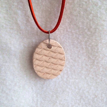 Handmade Dragon Scales Essential oil necklace Ceramic- Aromatherapy Diffuser Pendant  home and car diffuser