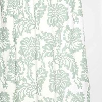 Magical Thinking Stamped Blossom Shower Curtain- Green One Size- Green One