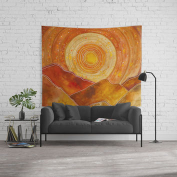 Sunset w.02 Wall Tapestry by vivianagonzlez