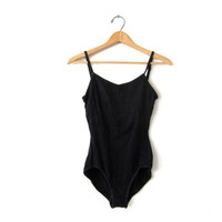Vintage Black Bodysuit. Capezio One Piece. Leotard. Dancewear. Tank Top. Swimsuit. Small Medium
