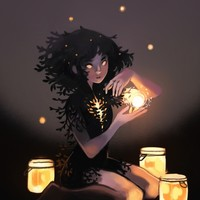 Lantern girl, an art print by Heather Penn