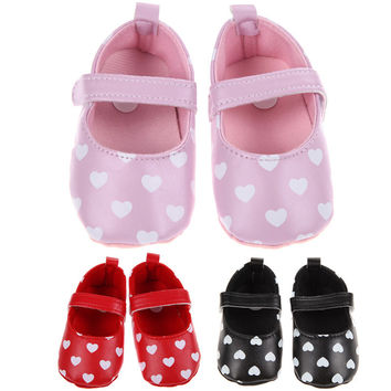 Baby Shoes Girls Soft Sole First Walker Mary Janes
