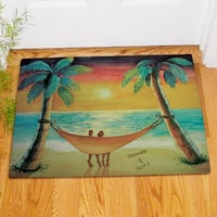 Personalized Beach Sunset Doormat