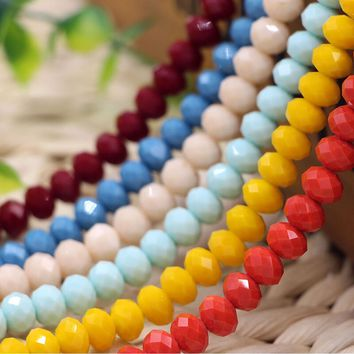 8mm 70PCS Glass Rondell faceted beads,crystal beads in Candy colors  []