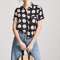 Daisy Graphic Pocket Shirt