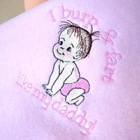 Baby Girl Blanket I Burp and Fart Like Daddy Fleece Handmade