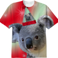 Christmas Koala T-Shirt created by ErikaKaisersot | Print All Over Me