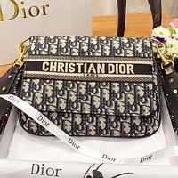 Dior Fashion New more letter canvas shopping leisure crossbody bag shoulder bag