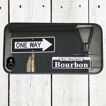 iPhone case Bourbon Street Sign iphone 4 and 4s Case - iPhone 5 Case