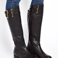 ASOS CLERKENWELL Leather Knee High Boots.
