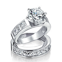 Bling Jewelry Love Vow Ring Set