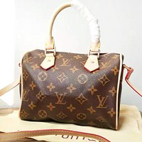 LV Louis Vuitton New fashion monogram print leather pillow shape boston shoulder bag crossbody bag handbag
