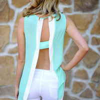 Take A Peek Tank: Aqua/White | Hope's