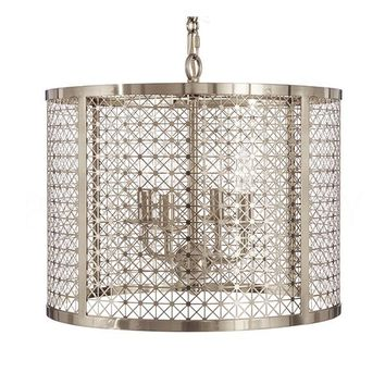 Buy Mod X Drum Chandelier in Nickel design by Aidan Gray Online at Burkedecor – BURKE DECOR