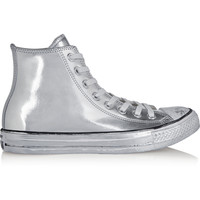 Converse - Chuck Taylor All Star Chrome metallic leather high-top sneakers