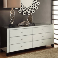 Mirrored 6 Drawer Dresser By Crestview Collection