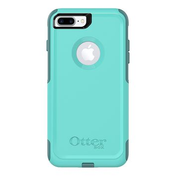 OtterBox COMMUTER SERIES Case for iPhone 8 Plus & iPhone 7 Plus (ONLY) - Retail Packaging - AQUA MINT WAY (AQUA MINT/MOUNTAIN RANGE GREEN)