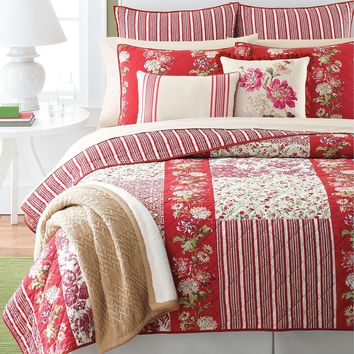 Martha Stewart Collection Bedding, Vintage Petal Quilts - Quilts & Bedspreads - Bed & Bath - Macy's