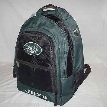 NFL NWT EMBROIDERED XL ADULT 3 COMPARTMENT BACKPACK - NEW YORK JETS