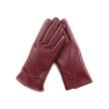 2017 Beauty PU Winter Gloves Keep Warm Fitness Leather Gloves Woman Solid Color Windproof Newest Fashion Touch Screen Gloves
