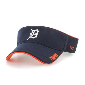 ONETOW MLB Detroit Tigers 47 Brand Top Rope Visor