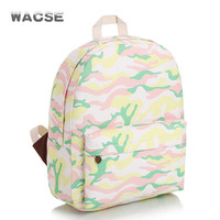 Canvas Fashion Travel Camouflage Stylish Casual Backpack = 4887768004