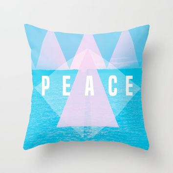 Boho Peace Throw Pillow by PoseManikin