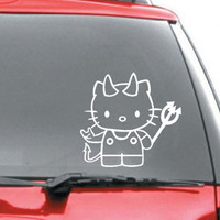Devil Hello Kitty vinyl decal