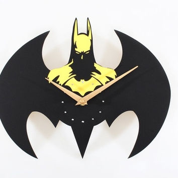 (bilng store)Solid Creative Batman Acrylic Wall Clock for Home Decoration Unique Gift = 1927916740