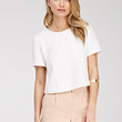 Boxy Pintucked Top