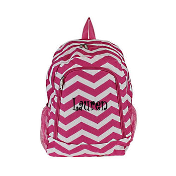 Personalized  Chevron Backpack  Girls Canvas by MauriceMonograms