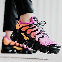 Nike Air Vapormax Plus Trending Woman Men Stylish Running Sport Shoes Sneakers Purple Orange I/A