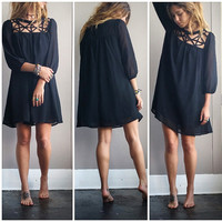 A Cutout Lady Dress in Black
