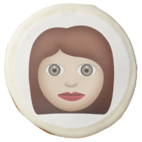 Woman Emoji Sugar Cookie