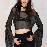 Ragged Priest June Net Crop Top