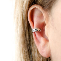 Sterling Silver Ear Cuff Earring Minimal Triangle  Ear Wrap Earrings Boho Jewelry - ECU003