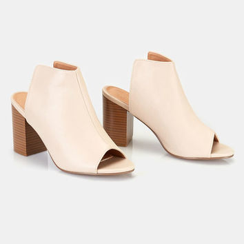 Vegan Leather Backless Mules | Wet Seal
