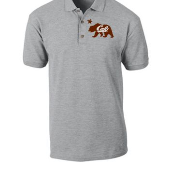 cali bear embroidery - Polo Shirt