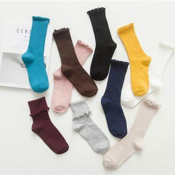Women's Harajuku Retro Cute Cotton Socks