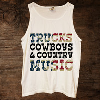 Trucks Cowboy & Country Music American Flag Tank