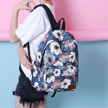 floral backpack school bag  number 1