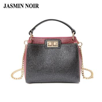 Summer 2017 Fashion Cat Women Leather Handbag Bling Bling Lady Cross Body Bag  Hot Female High Quality Shoulder Bags for Party