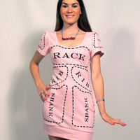 Pink Cuts of Meat dress MADE TO ORDER