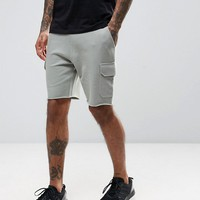 ASOS Skinny Jersey Shorts With Cargo Pockets at asos.com