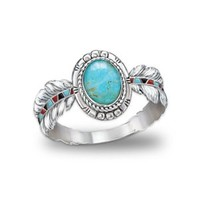Turquoise Ring: Sedona Sky by The Bradford Exchange