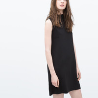High collar dress