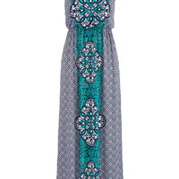 Crisscross Back Maxi Dress - Multi