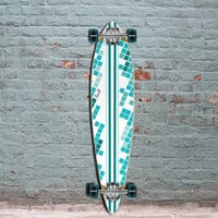 Punked White Digital Wave Pintail Longboard 40 inch
