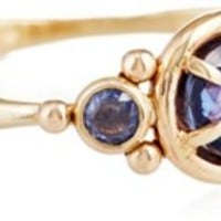 14K Rose-Cut Sapphire Puddle Ring, Stone & Novelty Rings