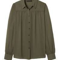 Braid-Trim Shirt | Banana Republic